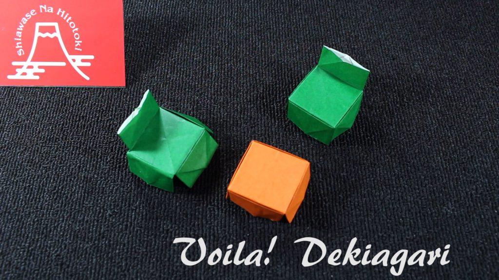 【簡単!折り紙】机、椅子の折り方