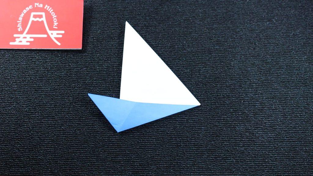 【簡単!折り紙】ヨットの折り方