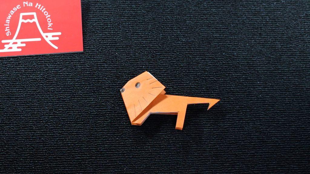 【簡単!折り紙】ライオンの折り方 かわいいライオンさん