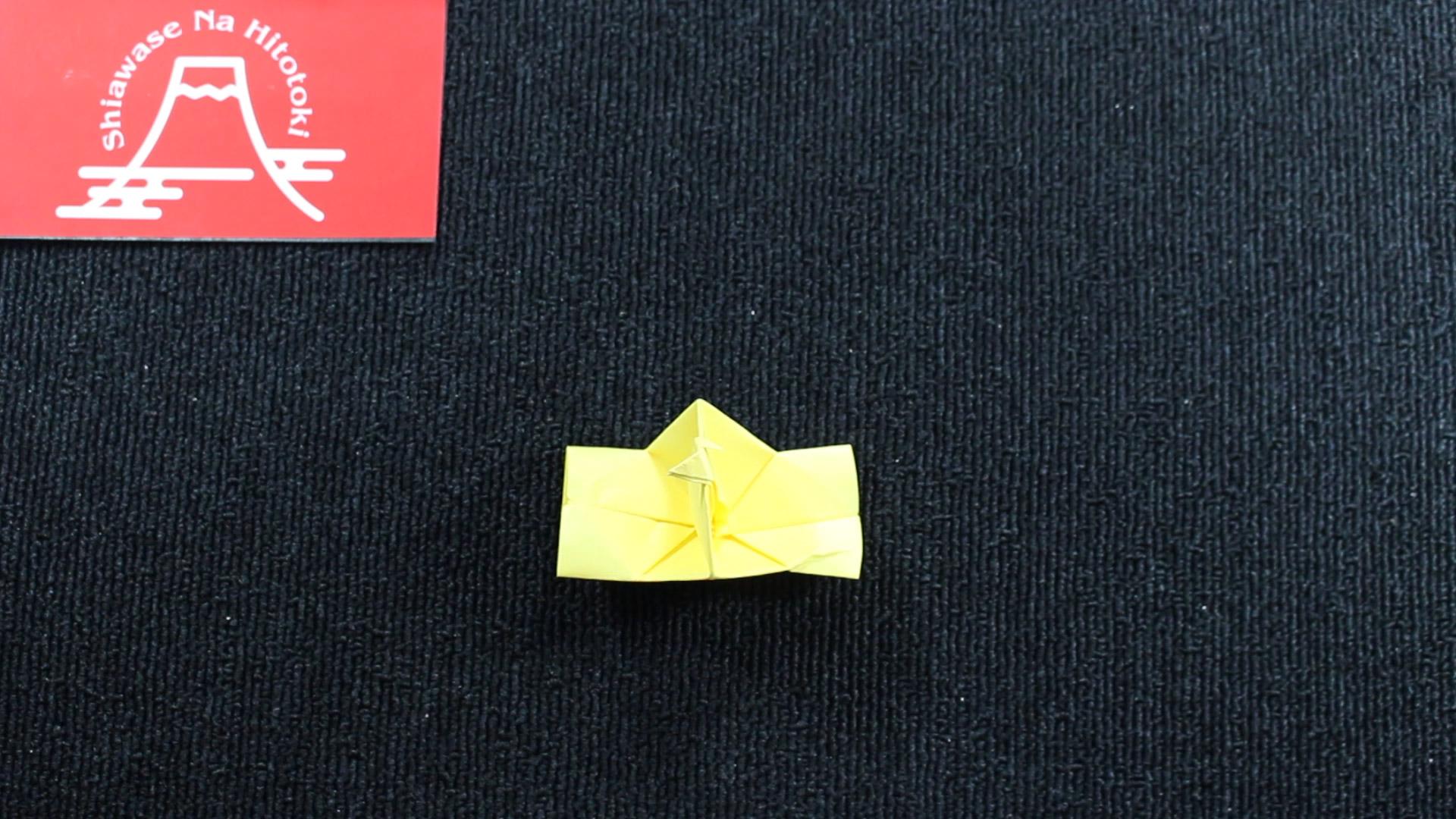 パッチン カメラ 折り紙